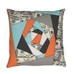 Layered Money Everyday Pillow