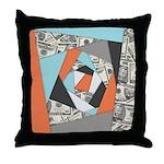 Layered Money Throw Pillow