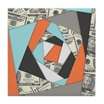 Layered Money Tile Coaster