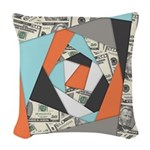 Layered Money Woven Throw Pillow