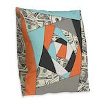Layered Money Burlap Throw Pillow