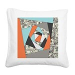 Layered Money Square Canvas Pillow