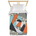 Layered Money Twin Duvet Cover