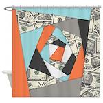 Layered Money Shower Curtain