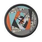 Layered Money Large Wall Clock
