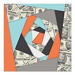 Layered Money Square Car Magnet 3