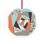 Layered Money Round Ornament
