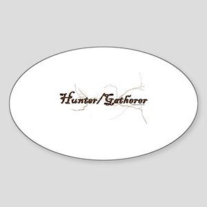 Hunter gatherer natural grunge Sticker (Oval)