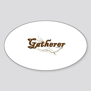 Gatherer, scavenger, vegetarian Sticker (Oval)