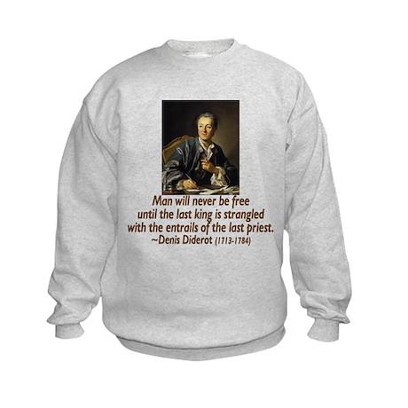 No Kings, No Priests Kids Sweatshirt