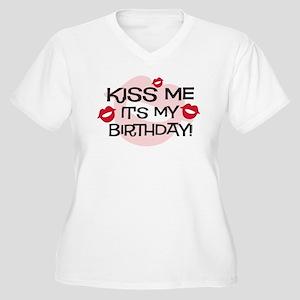 Smooches Kiss Me Birthday Women's Plus Size V-Neck