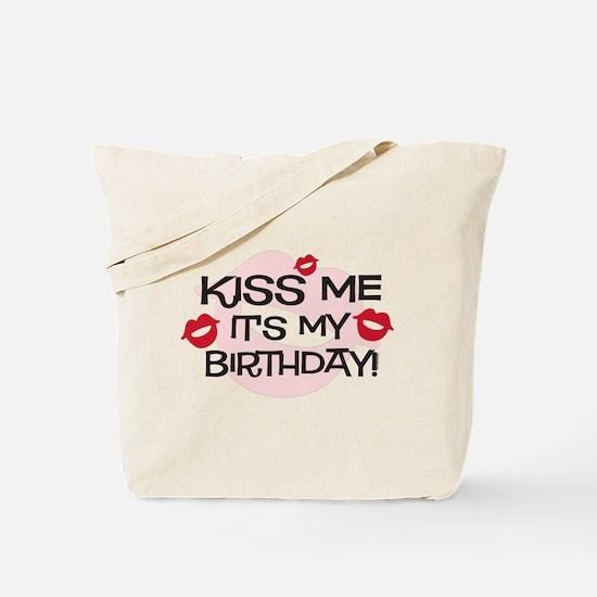 Smooches Kiss Me Birthday Tote Bag