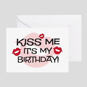 Smooches Kiss Me Birthday Greeting Card