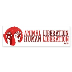 Animal/human Liberation (bumper) Car Sticker