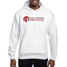 Animal/human Liberation Hooded Sweatshirt