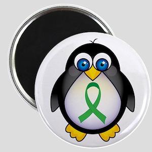 Penguin Green Ribbon Awareness Magnet