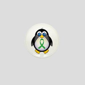 Penguin Green Ribbon Awareness Mini Button (10 pac