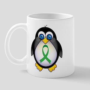 Penguin Green Ribbon Awareness Mug