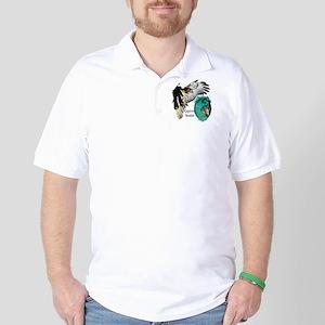 Squirrel Hawking Golf Shirt