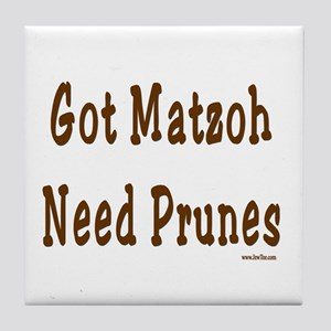 Prunes Passover Tile Coaster