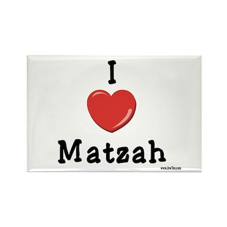 I Love Matzah Rectangle Magnet