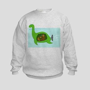 Bigfoot and Nessie Kids Sweatshirt