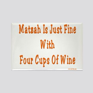 Matzah and Wine Passover Rectangle Magnet