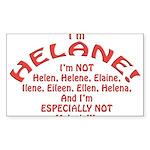 I'm Helane! Sticker (Rectangle 50 pk)