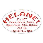 I'm Helane! Sticker (Oval)