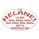 I'm Helane! Sticker (Oval 50 pk)