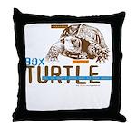 Box Turtle Cool Tee Throw Pillow
