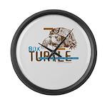 Box Turtle Cool Tee Large Wall Clock