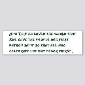 Irish 3:17 Reading Sticker (Bumper)