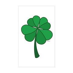4 leaf clover - Sticker (Rectangle)