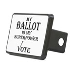 My Ballot is My Superpower Black Hitch Cover