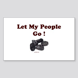 Let People Go Passover Sticker (Rectangle)