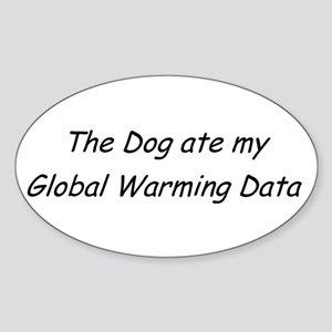 Gobal Warming Data Sticker (Oval)