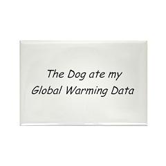 Gobal Warming Data Rectangle Magnet (100 pack)