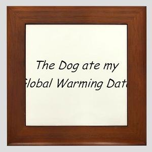 Gobal Warming Data Framed Tile