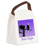 Sunset Bald Eagle Canvas Lunch Bag