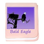 Sunset Bald Eagle baby blanket