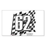 Flag No. 62 Sticker (Rectangle 50 pk)