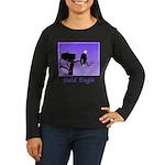 Sunset Bald Eagle Women's Long Sleeve Dark T-Shirt