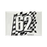 Flag No. 62 Rectangle Magnet (100 pack)