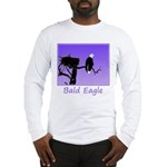 Sunset Bald Eagle Long Sleeve T-Shirt