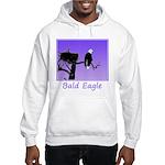 Sunset Bald Eagle Hooded Sweatshirt
