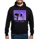 Sunset Bald Eagle Hoodie (dark)