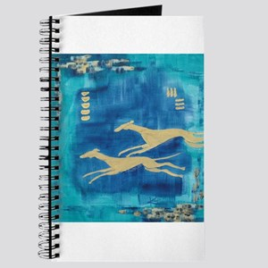 Aqua/Gold Greyts Journal