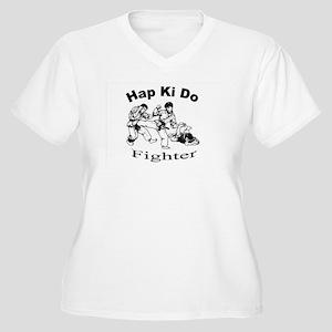 HapKiDo Fighter Women's Plus Size V-Neck T-Shirt