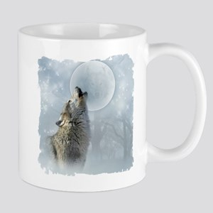 Wolf Blue Moon Mug